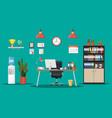office building interior vector image