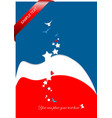 red and blue business background vector image