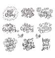 Happy New Year and Merry Christmas Text vector image vector image