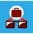 travel concept fashionable sunglasses vector image