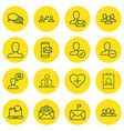 Set of 16 communication icons includes favorite vector image