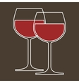 Wineglasses vector image vector image