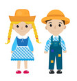 festa junina girl and boy in traditional festive vector image