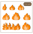 set fire isolated on a white background vector image
