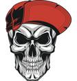 Skull in a red cap vector image