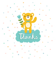 Bear says thanks vector image