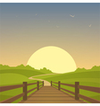 The wooden bridge vector image