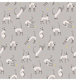 pattern cats play vector image