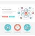 Flat line Business Research Concept vector image