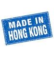 Hong Kong blue square grunge made in stamp vector image