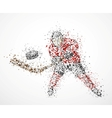 Abstract hockey player vector image vector image