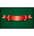 Red ribbon bow blank satin vector image
