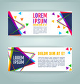 banners with geometric elements vector image