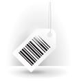 Barcode label with thread vector image