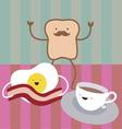 Breakfast characters vector image
