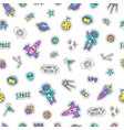 bright space objects background vector image