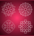 heart flakes pattern four item vector image