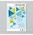 Modern templates for brochure flyer cover vector image