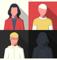 profile avatar icons vector image