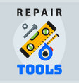 repair tools level measuring tape icon creative vector image