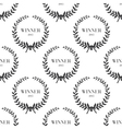 Seamless pattern with laurel wreaths vector image