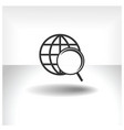 search web icon vector image