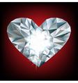 Shiny diamond heart vector image