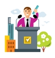 Tribune speaker Flat style colorful vector image