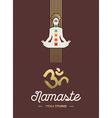 Yoga studio template with chakra elements vector image