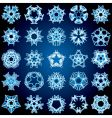 abstract snowflakes background vector image