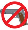 No Handguns vector image vector image