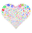 coin fireworks heart vector image