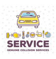 creative of frontal view car on vector image