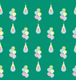 baby flying on balloons seamless pattern vector image