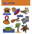 hawaii travel tourism landmarks and tourist vector image