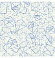 Envelope doodles seamless pattern vector image