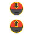 Download And Upload Icons 34 vector image vector image