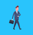 business man with suitcase male office worker vector image