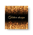 greeting card with golden rays vector image