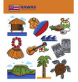 hawaii travel tourism landmarks and tourist vector image