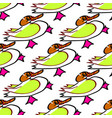 seamless background duck child s drawing handmade vector image