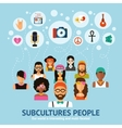 Subcultures People Concept vector image