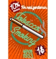 Tobacco shop banner vector image