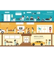Treatment Medical Care and Center flat hospital vector image