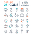 Vegetables Line Icons 2 vector image