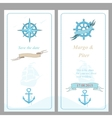 Wedding invitation template nautical style vector image