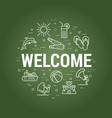 welcome summer concept on board vector image