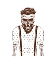 fashion zombie dressed in t-shirt vector image