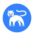 Panther icon black Singe animal icon from the big vector image