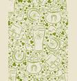beige background for patricks day with ber mug vector image